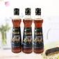 厂家直销业星香油调味油家用拌菜火锅石磨黑芝麻香油400ml批发